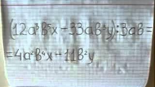 Как разделить многочлен на одночлен