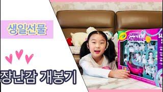 생일선물 장난감 개봉기/7살 여자어린이/크레욜라 펫살롱…