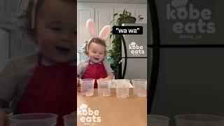 CHEF KOBE COLORS EGGS FOR EASTER
