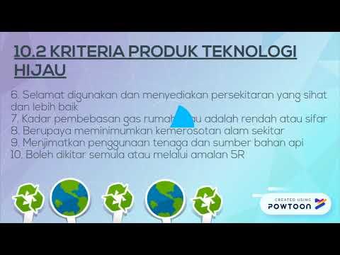 Ciri Ciri Produk Teknologi Hijau Tingkatan 2