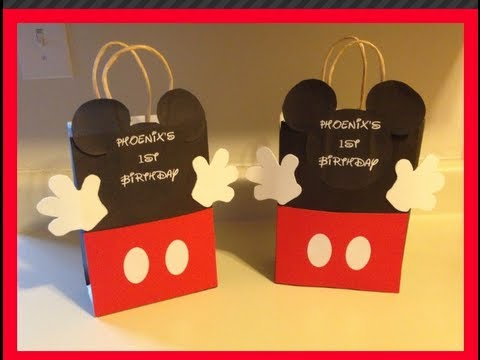 DIY-MICKEY MOUSE GOODIE BAG