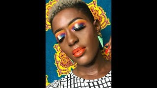 HOW TO DO A COLOURFUL MAKEUP LOOK FOR DARK SKINNED WOMEN || Lerny Lomotey