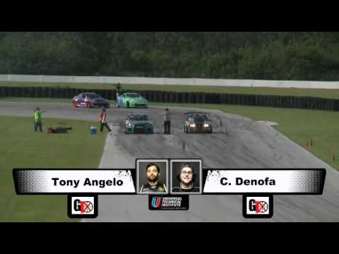 TONY ANGELO vs CHELSEA DENOFA  During Top 32 for Formula Drift Round 3 at Palm Beach FL Internationa