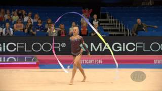 Yana KUDRYAVTSEVA (RUS) 2015 Rhythmic Worlds Stuttgart - Qualifications Ribbon(FIG Official - 34th Rhythmic Gymnastics World Championships, Stuttgart (GER), September 7-13, 2015 Be sure to favorite and thumbs up the video and leave a ..., 2015-09-09T14:41:09.000Z)