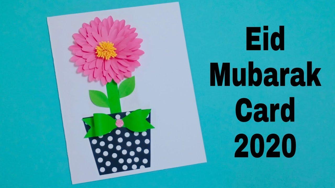 how to make eid mubarak greeting card design  diy eid
