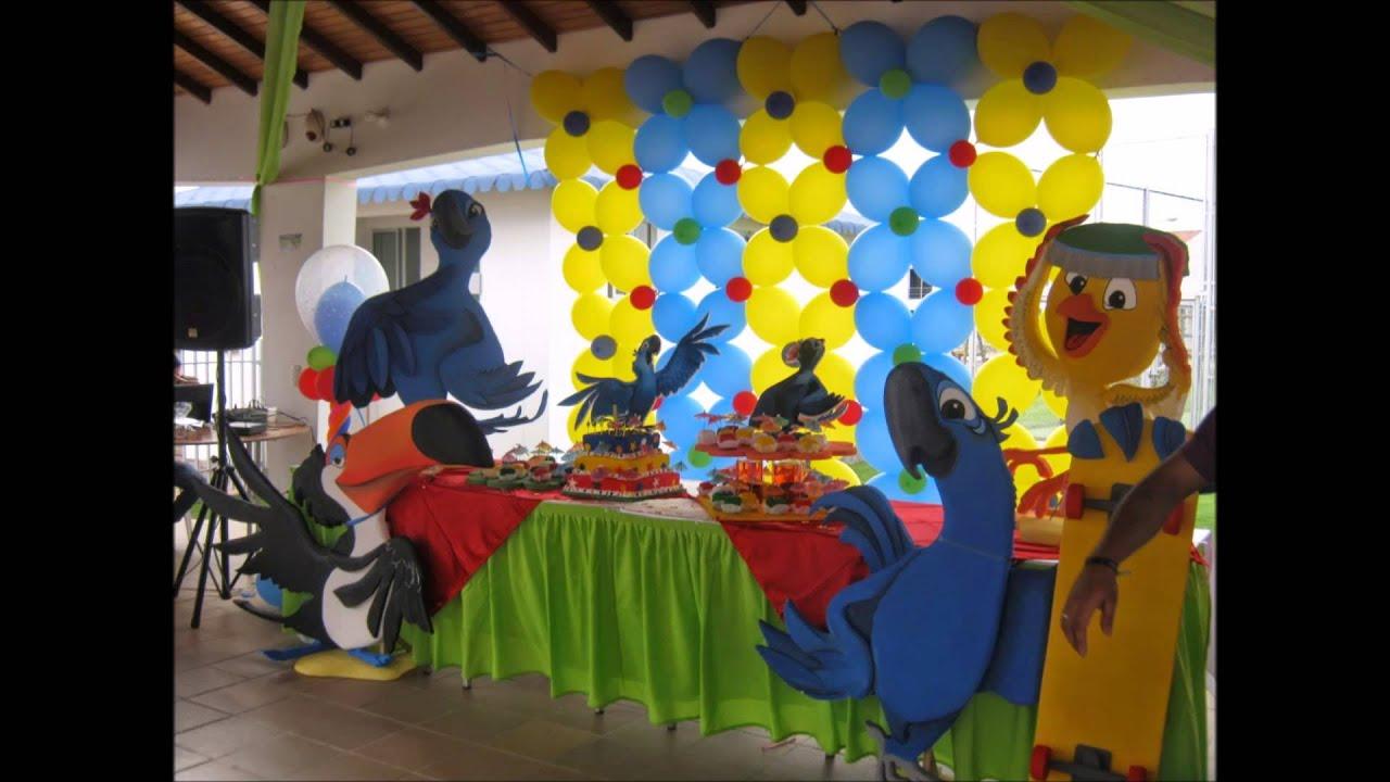 Decoraci n de rio fiesta infantil youtube - Blog de decoracion infantil ...