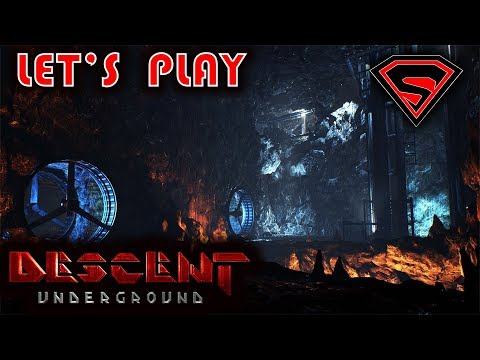 DESCENT UNDERGROUND LET'S PLAY - DESCENT CINEMATIC & AND TESTING MY SKILLS AGAINST THE BOTS