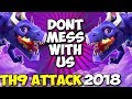 DRAGONS ARE RULING: TH9 SUPER STRONG WAR ATTACK STRATEGY 2018 | Clash of Clans