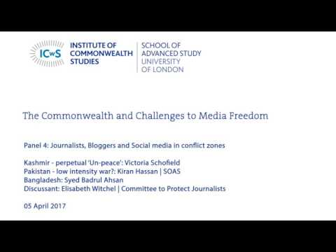 Journalists, Bloggers and Social Media in conflict zones