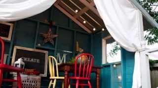 видео Деревянный детский домик для дачи своими руками: идеи, чертежи, фото