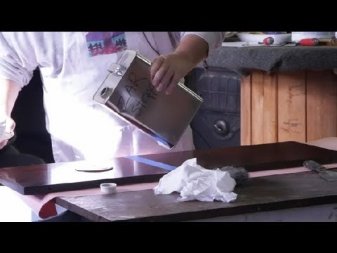 How to Remove Oil-Based Wood Stain  Wood Furniture -