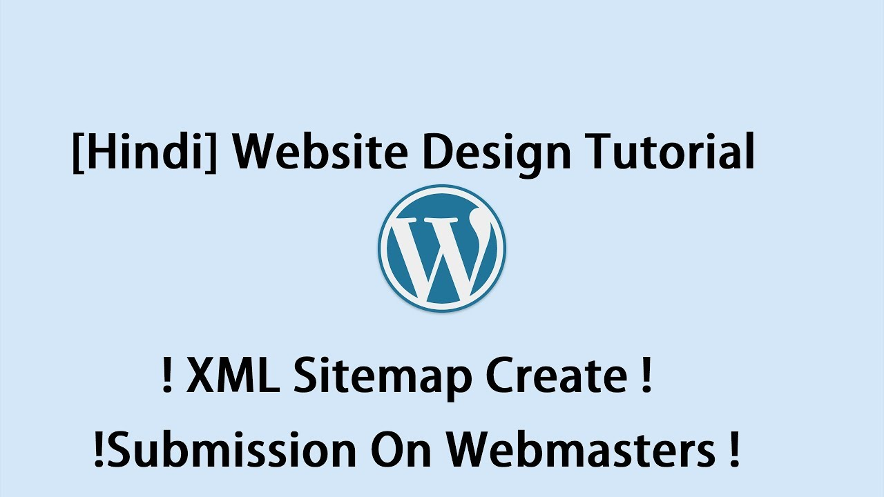 hindi website design tutorial xml sitemap create submission on