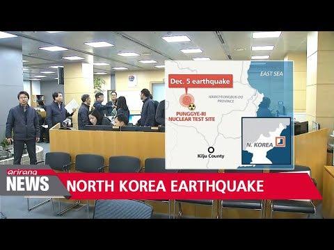 'Natural' magnitude 2.8 earthquake detected in N. Korea's Kilju county