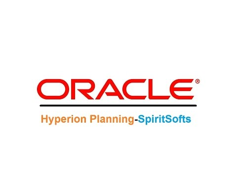 Hyperion Planning Training in Hyderabad