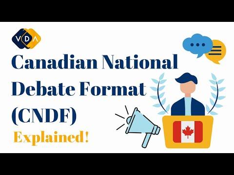 Canadian National Debate Format | Explained | Vancouver Debate Academy