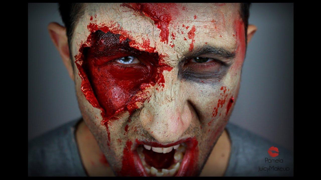 Trucchi Di Halloween Spaventosi.Trucco Uomo Halloween The Walking Dead Inspiration