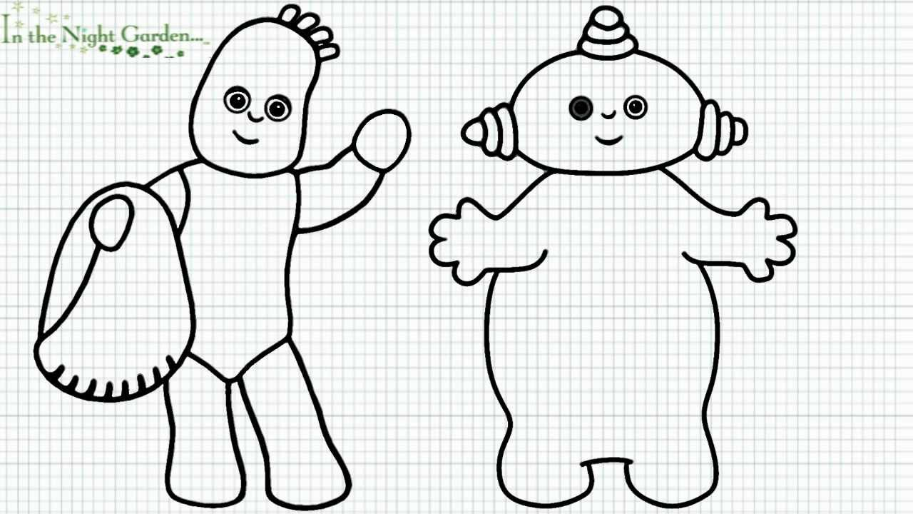 In the Night Garden... - How to Draw Iggle Piggle and Makka Pakka ...