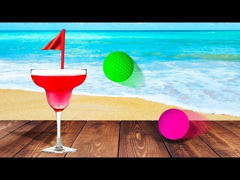 HOLE IN ONE ON A BEACH! (Golf It) |