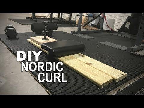DIY Homemade Nordic Curl - Under $20