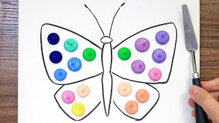 Butterfly's Friends|Mind Blowing Acrylic Painting on Canvas Step by Step #681|Satisfying Art ASMR