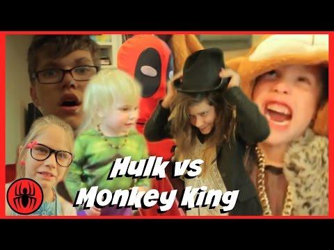 Baby Heroes 4: Hulk vs monkey king & evil magician superhero fun in real life comics | SuperHeroKids