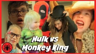 Baby Heroes 4: Hulk vs monkey king funny magician superhero fun in real life comics | SuperHeroKids