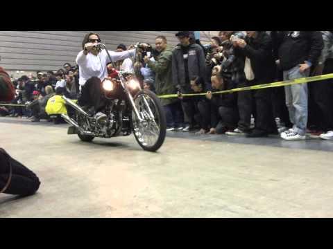 MOONEYES Opening Parade with Bike@3 in Pacifico Yokohama 2015-12-06