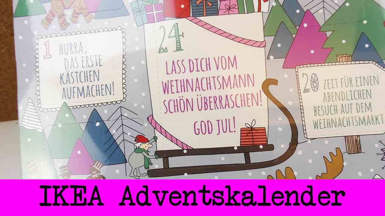 ikea adventskalender unboxing adventskalender mit gutscheinkarten pralinen 2015 youtube. Black Bedroom Furniture Sets. Home Design Ideas