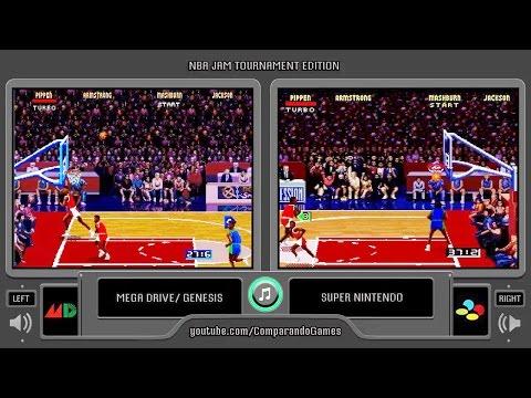 NBA Jam Tournament Edition (Sega Genesis Vs Snes) Side By Side Comparison