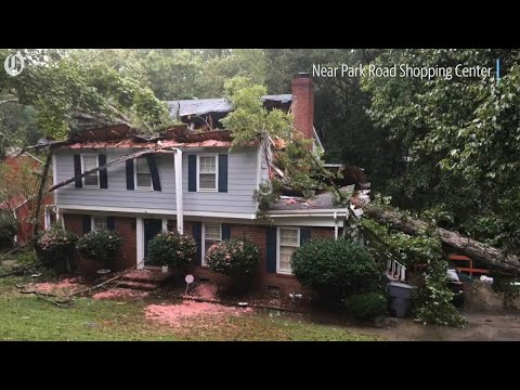 Scenes of Florence damage around Charlotte, NC