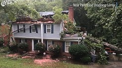Scenes of Florence damage around Charlotte, NC