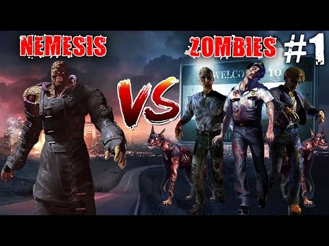 Resident Evil 3 Nemesis Vs Zombies (Funny) |