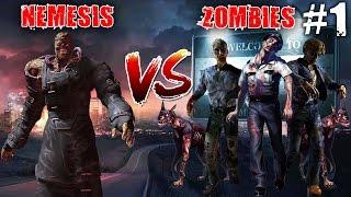 Resident Evil 3 Nemesis Vs Zombies (Funny)