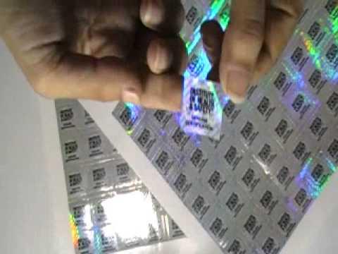 hologram sticker printing machine