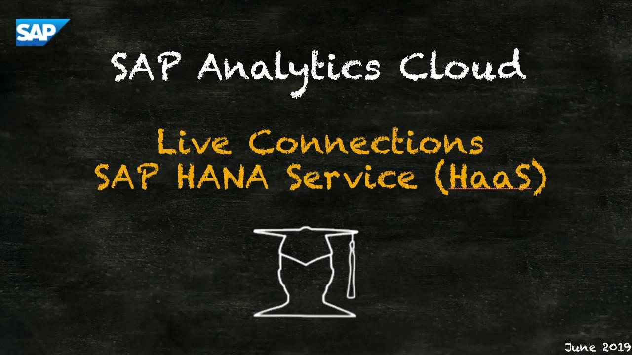 SAP HANA Academy - SAP CP, SAP HANA service: 30  SAC Configure SAML2 SSO