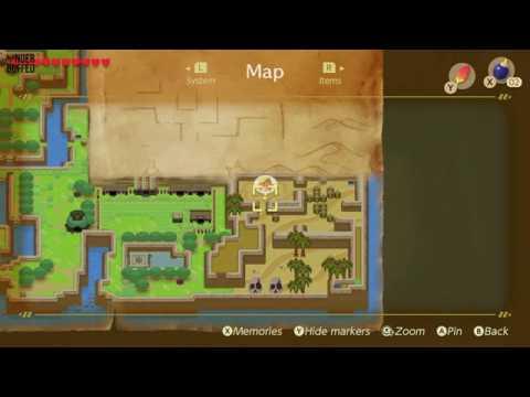 Link S Awakening Heart Piece Location Yarna Desert