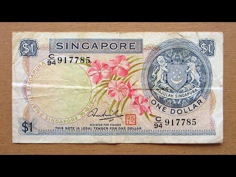 1 Singapore Dollar Banknote (One Dollar Singapore: 1972) Obverse & Reverse