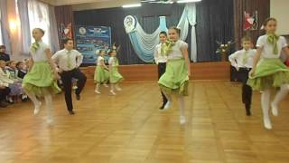 "ПОЛЬКУ танцуют ребята из 4 ""А"" класса школы № 6 г.Обнинска"