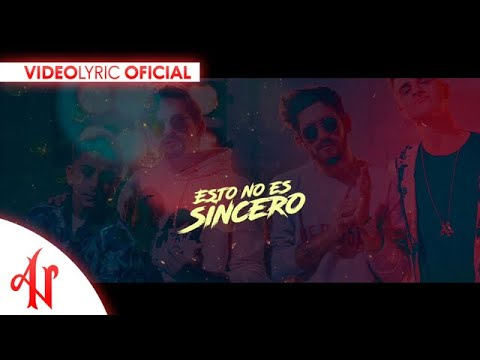 Esto no es sincero - Adexe & Nau Ft. Mau y Ricky (Video Lyric Oficial)