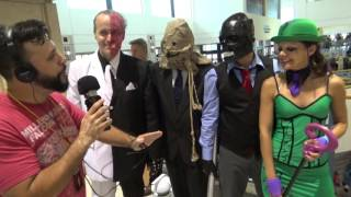 Batman's Rogues Gallery (Two-Face, Scarecrow, Black Mask & Riddler)(Eric DaSilva talks to a group of cosplayers dressed as Batman's Rogue Gallery. Tampa Bay Comic Con 2015., 2016-02-15T18:08:23.000Z)