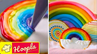 Easy Cookie Decoration Ideas | Rainbow, Meringue, and more | Hoopla Recipes