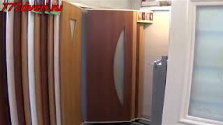 видео Шпонированная дверь эконом класса Каролина, беленый дуб
