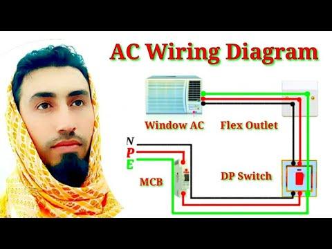Window Ac Wiring Connection Diagram Ac Wiring Diagram In Urdu Hindi And Pashto Youtube