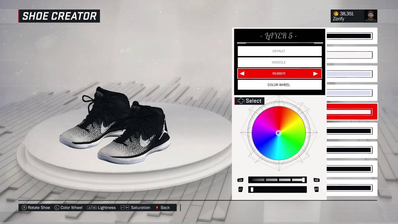 newest e0d3d a4b62 NBA 2K17 Shoe Creator - Air Jordan 31