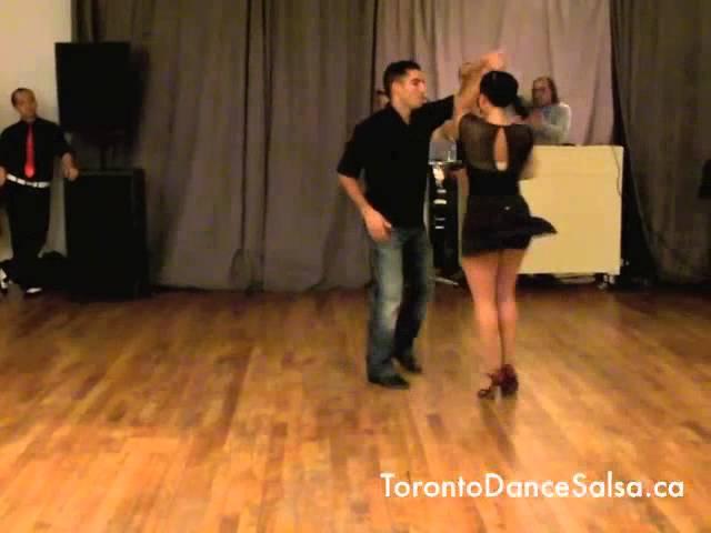 Toronto Dance Salsa Dips and Tricks Demo with Jessica and Jason