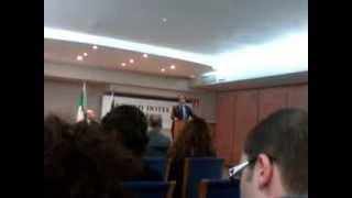 Conferenza in materia di Deontologia Forense 12/04/2013, Avv. Prof. Andrea Pisani Massamormile.