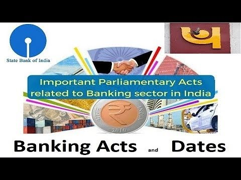 Acts Related to Banking | When they were Passed.