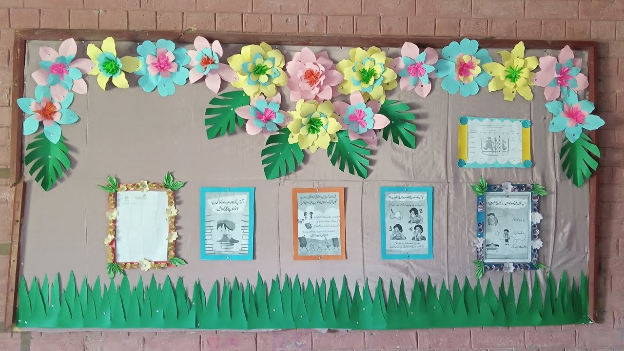 New Creative Idea Of Soft Board Decoration For Class Rooms Youtube
