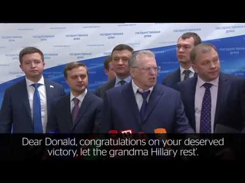 "Russian parliament on Trump victory - ""We are sending him a telegram with congratulations!"""