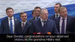 russian parliament on trump victory we are sending him a telegram with congratulations